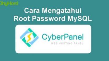 Cara Mengetahui Password Root MySQL di CyberPanel