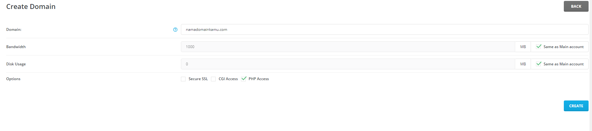 Cara Menambahkan Addon Domain Tambahan di DirectAdmin