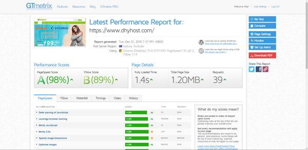 tools pengecek kecepatan website